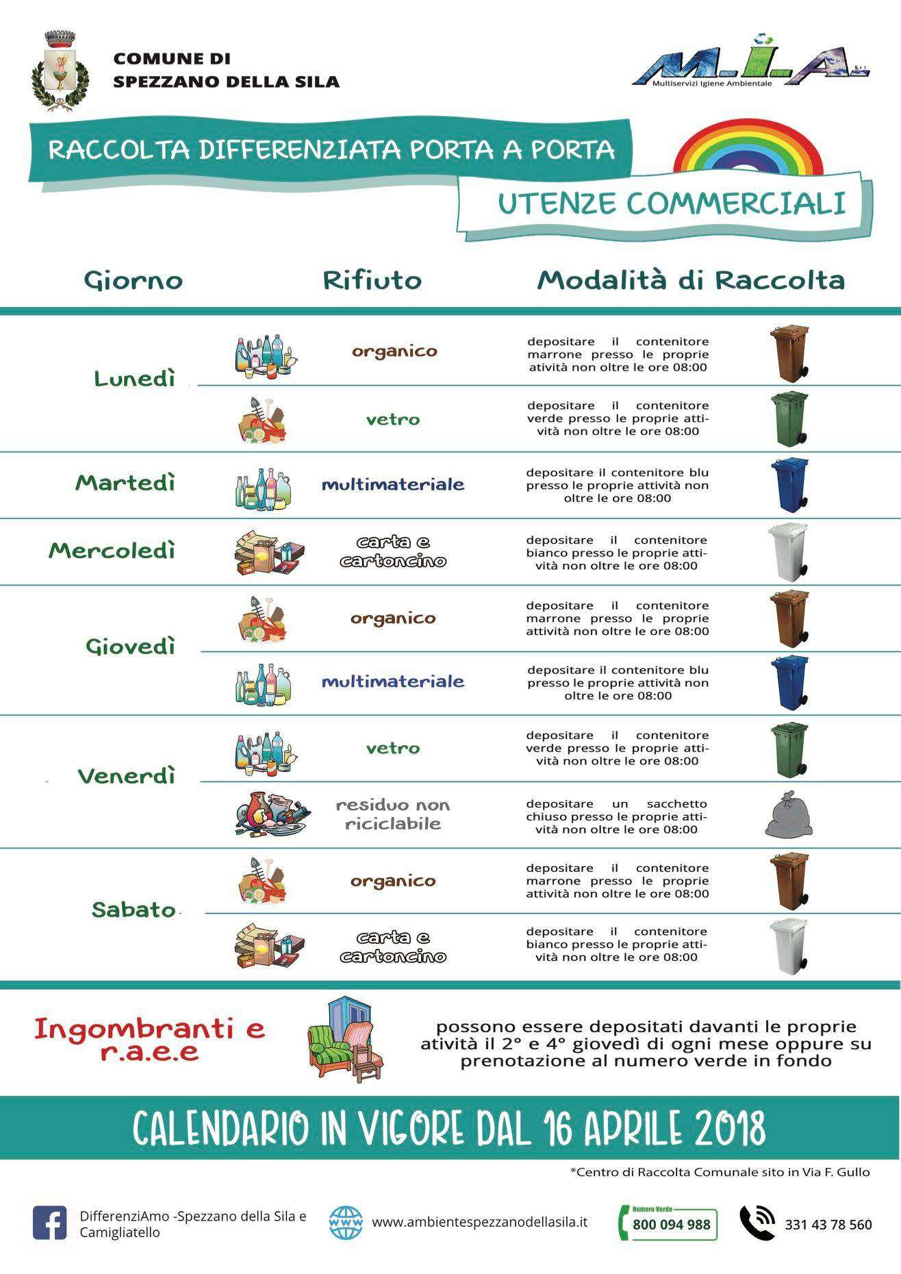Raccolta Differenziata Cosenza Calendario 2019.Raccolta Differenziata Dei Rifiuti Comune Di Spezzano